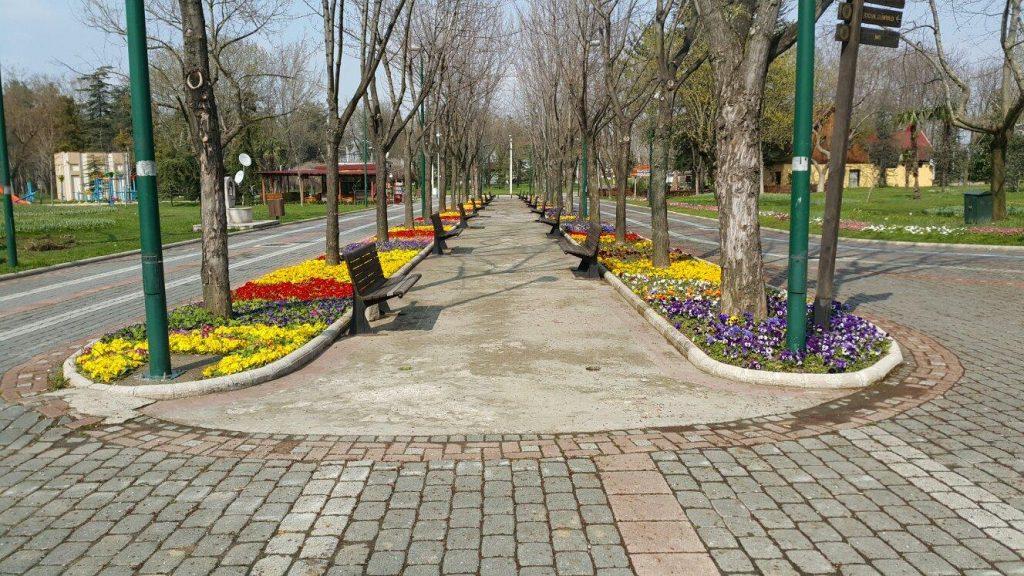 kulturpark ta ilkbahar 1 1024x576 - الحديقة الثقافية او كولتور بارك من أجمل حدائق بورصة