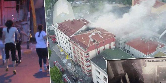 في ورشة النسيج في اسطنبول 660x330 - بالفيديو والصور : انفجار ورشة في ولاية اسطنبول ..وفاة شخص أجنبي وإصابة 10