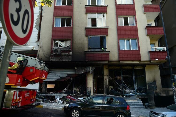 في ورشة النسيج3 - بالفيديو والصور : انفجار ورشة في ولاية اسطنبول ..وفاة شخص أجنبي وإصابة 10