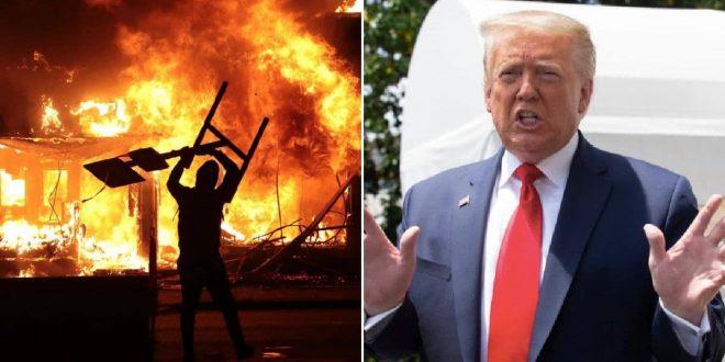 ترامب إلى مخبأ سري أثناء احتجاجات قرب البيت الأبيض 660x330 - نقل ترامب إلى مخبأ سري بالبيت الأبيض بسبب الاحتجاجات