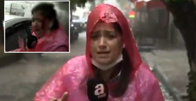 canli yayinda basina dolu isabet eden a haber 13353768 4074 o 1 640x330 - شاهد بالفيديو : إصابة مراسلة تركية أثناء تغطية عاصفة اسطنبول