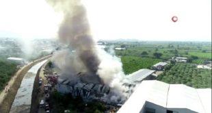 في ولاية بورصة مستودع بلاستيك 310x165 - بالفيديو : حريق كبير يلتهم مستودع للبلاستيك في ولاية بورصة