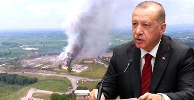 "son dakika cumhurbaskani erdogan dan sakarya 13385612 7513 o 640x330 - تصريح لـ ""أردوغان"" حول انفجار مصنع الالعاب النارية .. وفاة شخصين حتى الآن"